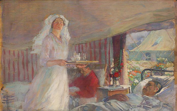 Victor F. Tardieu, Hospital en Oatfield, 1915. Museo Florence Nightingale